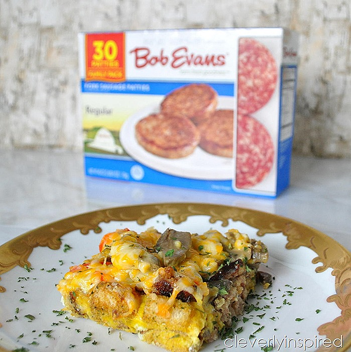 overnight sausage egg breakfast casserole @cleverlyinspired (4)