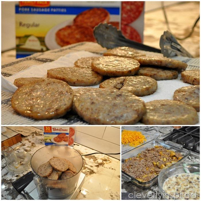overnight sausage egg breakfast casserole @cleverlyinspired (5)
