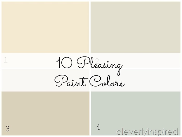 10 Pleasing Paint Colors - Cleverly Inspired