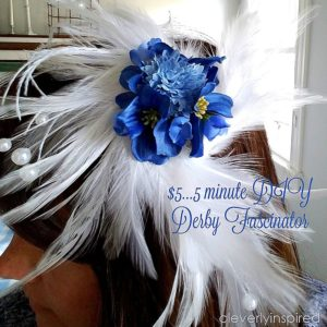 $5…5 minute Kentucky Derby Party DIY fascinator