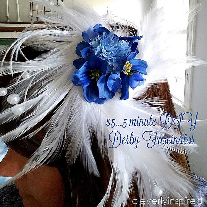 5 minute Kentucky Derby fascinator @cleverlyinspired (2)