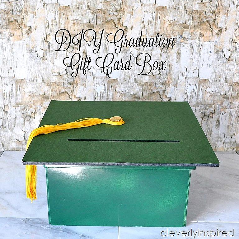 diy graduation gift card box cleverlyinspired 4