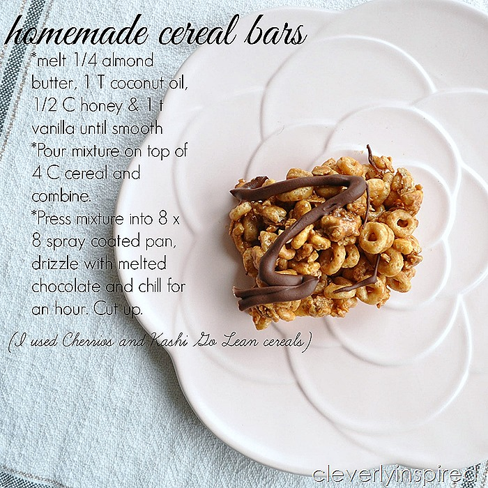 homemade cereal bar @cleverlyinspired