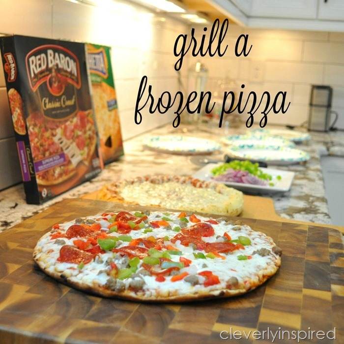 how to grill a frozen pizza @cleverlyinspired (5)