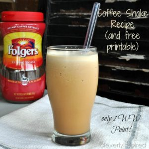 Low Cal Coffee Shake Recipe &Teacher appreciation