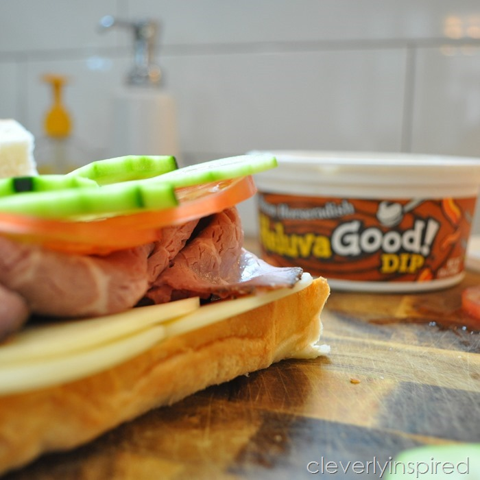 roast beef hoagie on pretzel roll @cleverlyinspired (3)