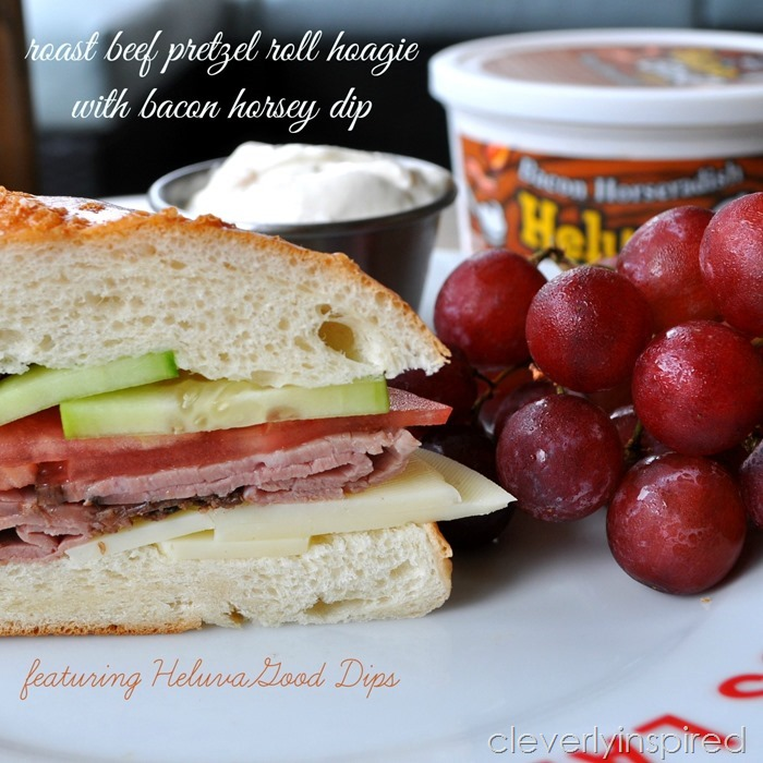 roast beef hoagie on pretzel roll @cleverlyinspired (7)