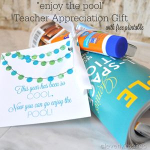 "Teacher ""Pool"" gift with Free Printable"
