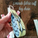 Easy DIY Fabric Cuff Keychain