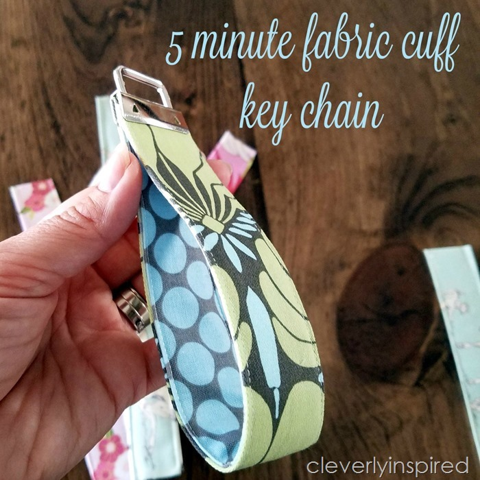 Easy DIY Fabric Cuff Keychain