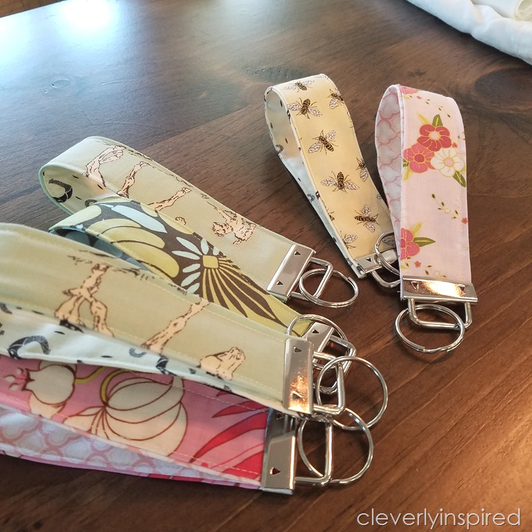 Easy Diy Fabric Cuff Keychain Cleverly Inspired