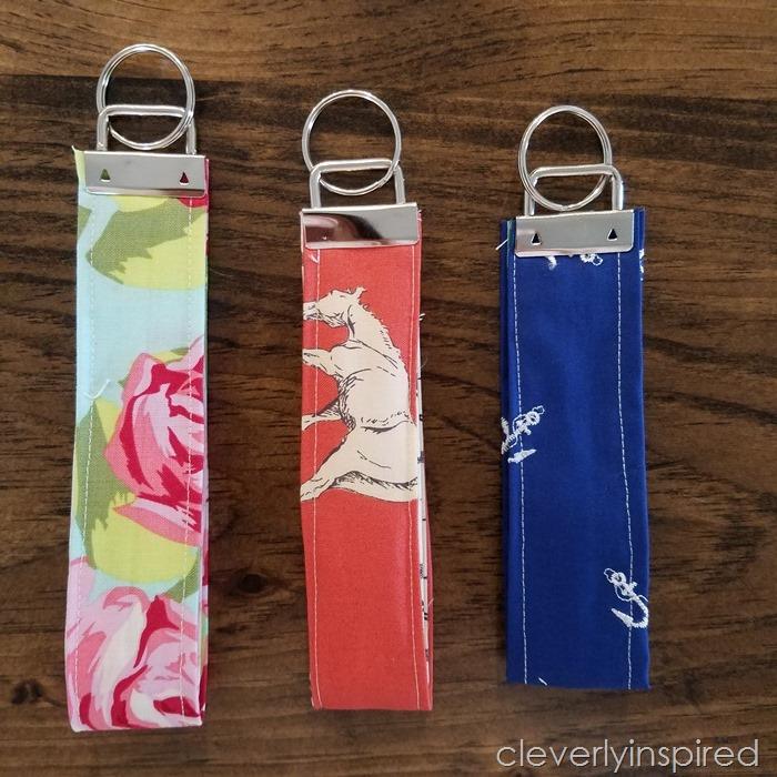 5 minute fabric cuff keychain @cleverlyinspired (6)
