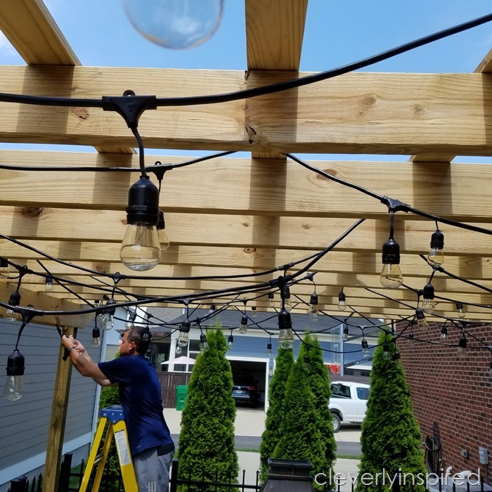 outdoor pergola with lights @cleverlyinspired (1)