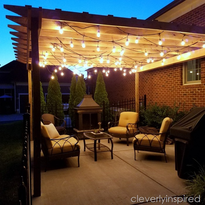 outdoor pergola with lights @cleverlyinspired (3)