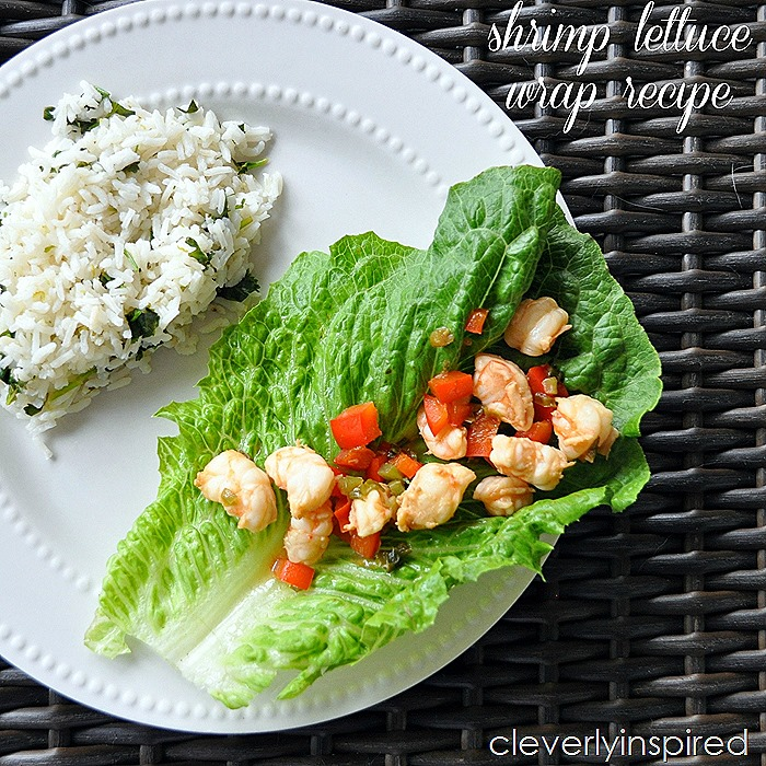 shrimp lettuce wrap recipe @cleverlyinspired (2)