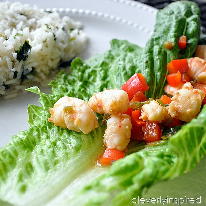 shrimp lettuce wrap recipe @cleverlyinspired (3)