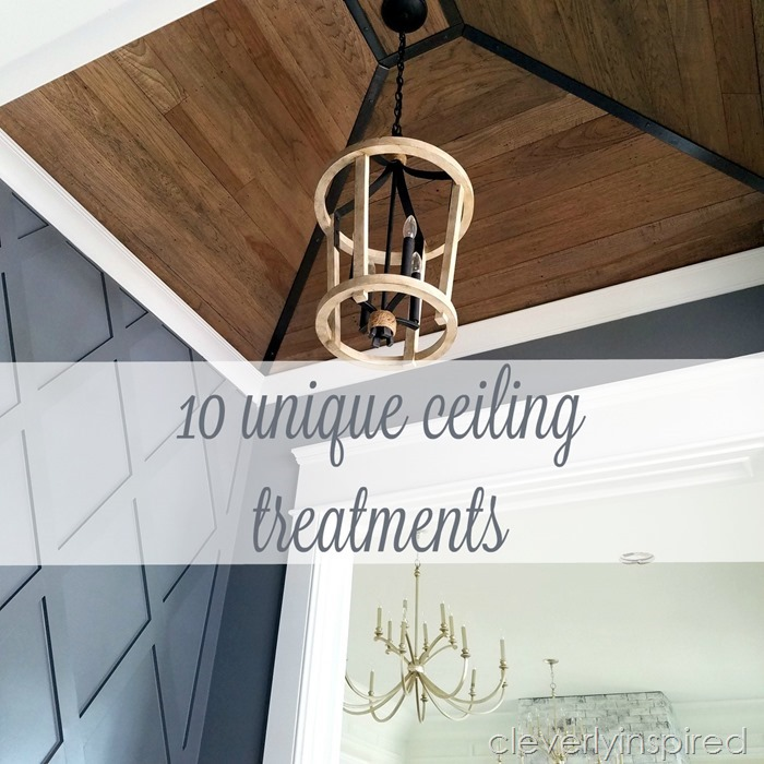 unique ceiling treatments @cleverlyinspired