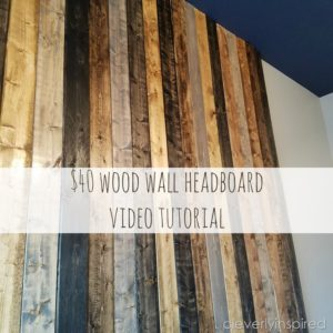DIY wood wall headboard for $40 bucks