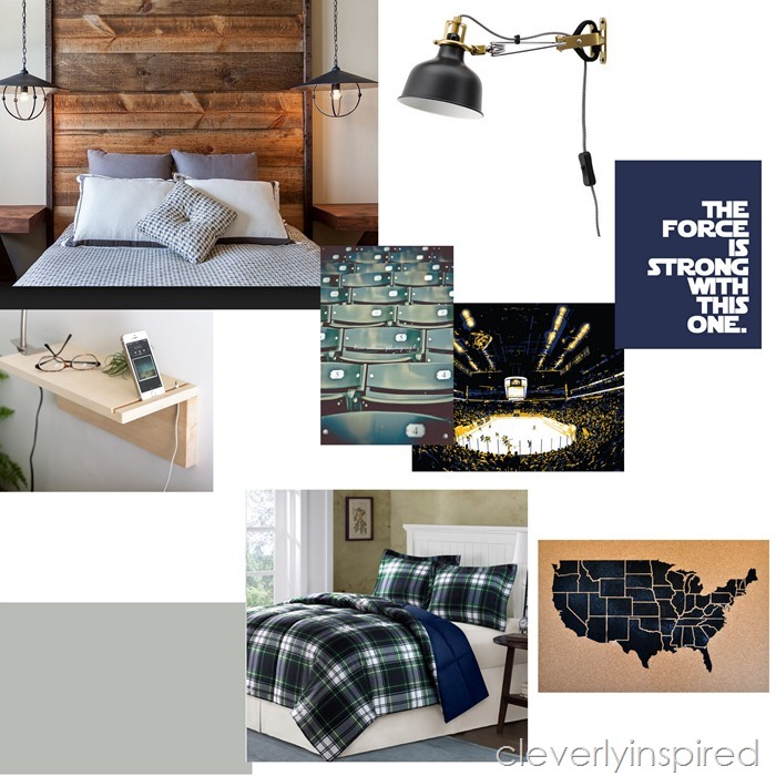 teen boy bedroom design @cleverlyinspired