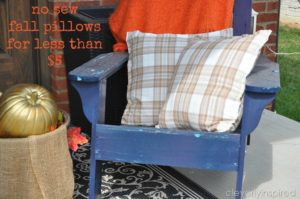 No sew fall pillows for less than $5
