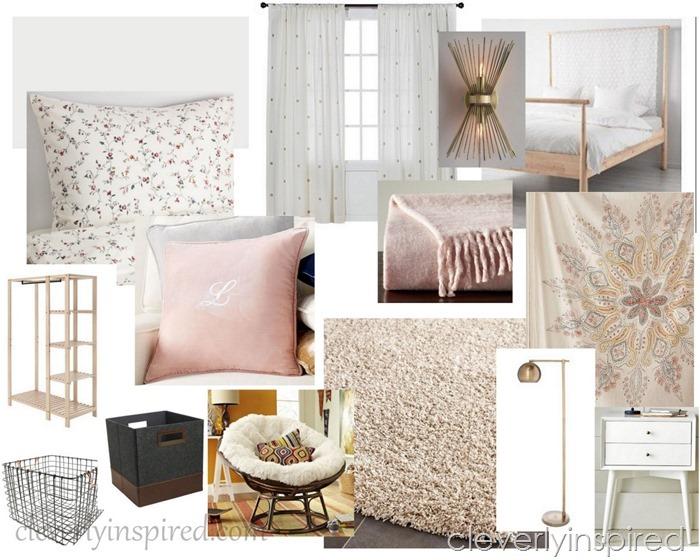 Teen girl bedroom @cleverlyinspired