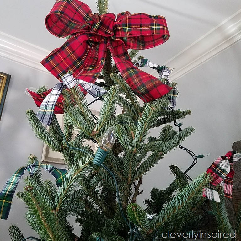 easy plaid christmas tree decor 7