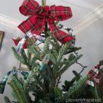 Plaid Christmas Tree (easy DIY tree decorations)