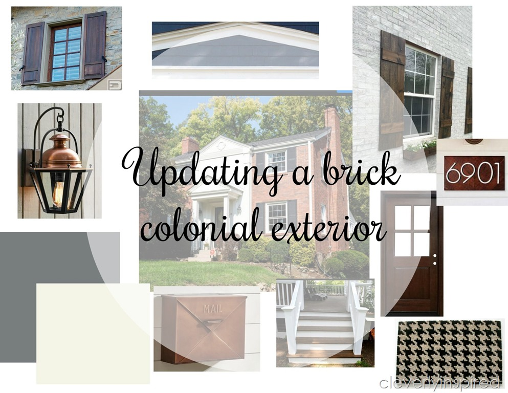Updating a brick colonial - Cleverly Inspired
