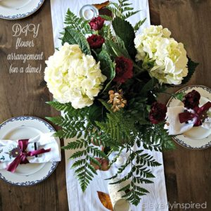 DIY Flower Arrangements on a dime (DIY Fall table)