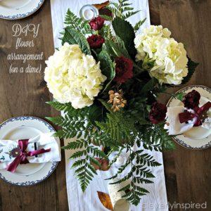 DIY Flower Arrangements on a dime (DIY Fall table)