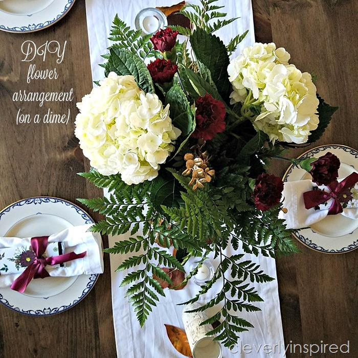DIY flower arrangement @cleverlyinspired (7)cv