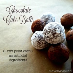 1 point Chocolate Cake Ball (nothing artificial)