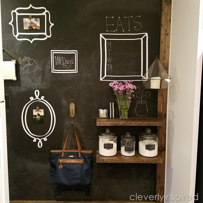 large chalkboard wall diy @cleverlyinspired (1)