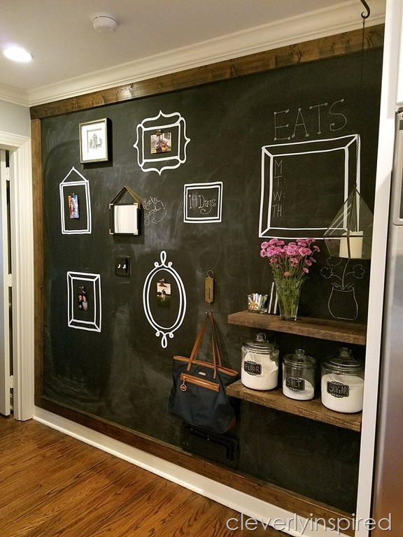 Large DIY Kitchen Chalkboard - Cleverly Inspired
