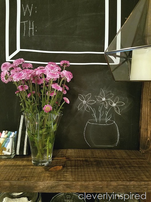 large chalkboard wall diy @cleverlyinspired (3)