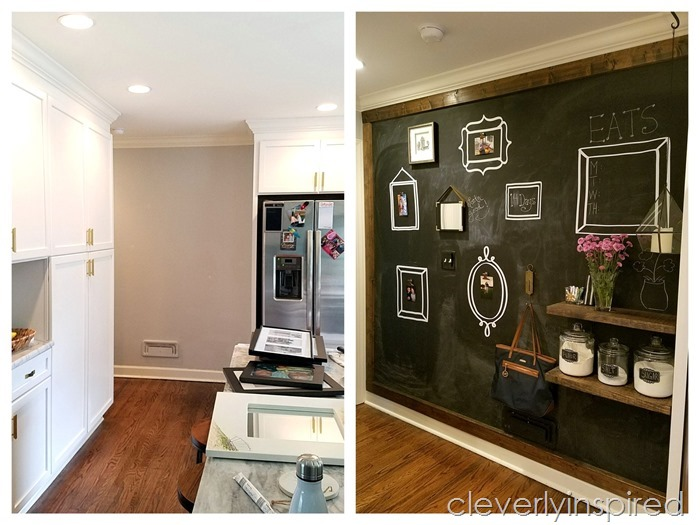 large chalkboard wall diy @cleverlyinspired (7)
