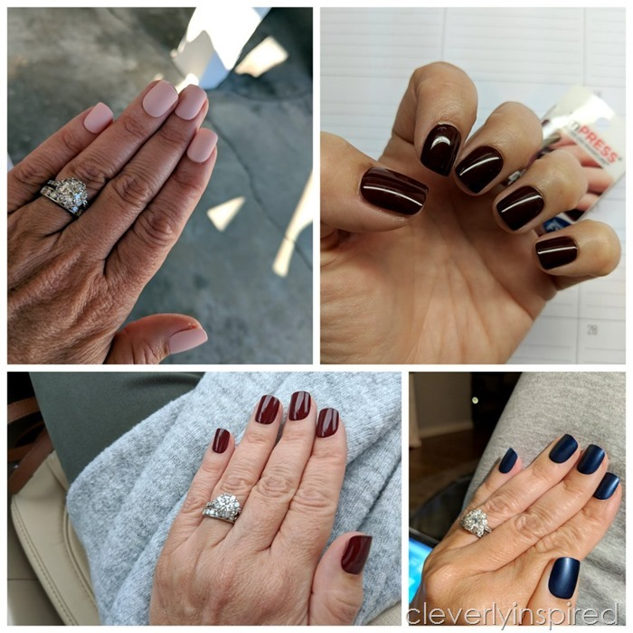 DIY $6 manicure Impress Nails @cleverlyinspired