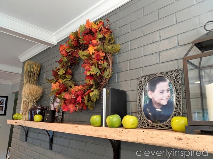 shop the house fall mantle cleverlyinspired (4)